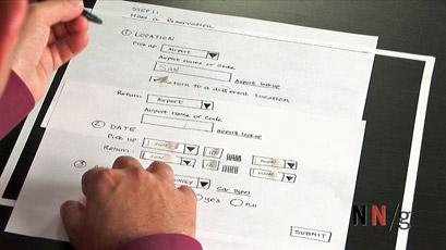 low fidelity paper prototype