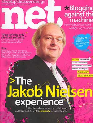 'The Jakob Nielsen Experience', Dot-Net magazine cover, December 2006