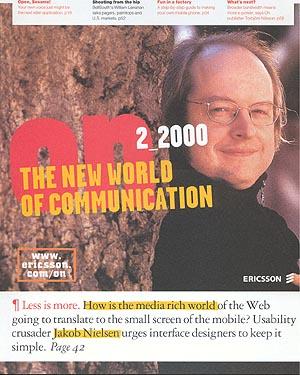 On Magazine, Ericsson