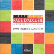 Book cover of French translation of Homepage Usability