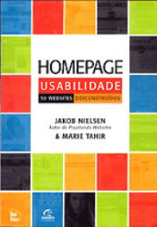 Book cover of Portuguese translation of Homepage Usability