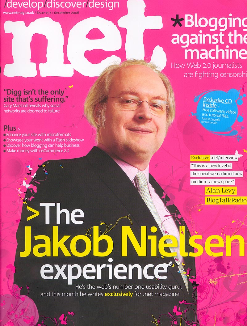 Cover Story For Wired Uk Kevin Gray S Portfolio: Jakob Nielsen, Feature Stories